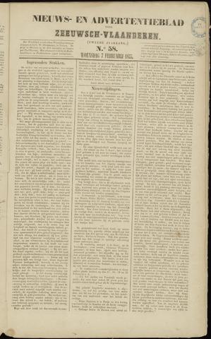Ter Neuzensche Courant. Algemeen Nieuws- en Advertentieblad voor Zeeuwsch-Vlaanderen / Neuzensche Courant ... (idem) / (Algemeen) nieuws en advertentieblad voor Zeeuwsch-Vlaanderen 1855-02-07
