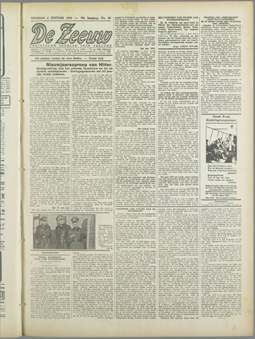 De Zeeuw. Christelijk-historisch nieuwsblad voor Zeeland 1944-01-04