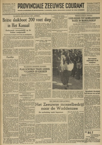 Provinciale Zeeuwse Courant 1951-04-18