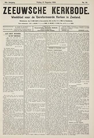 Zeeuwsche kerkbode, weekblad gewijd aan de belangen der gereformeerde kerken/ Zeeuwsch kerkblad 1926-08-27