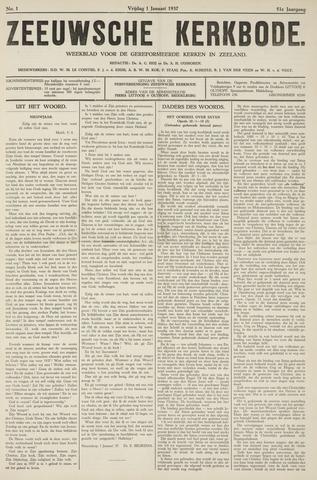 Zeeuwsche kerkbode, weekblad gewijd aan de belangen der gereformeerde kerken/ Zeeuwsch kerkblad 1937