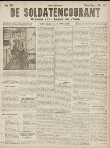 De Soldatencourant. Orgaan voor Leger en Vloot 1917-05-02