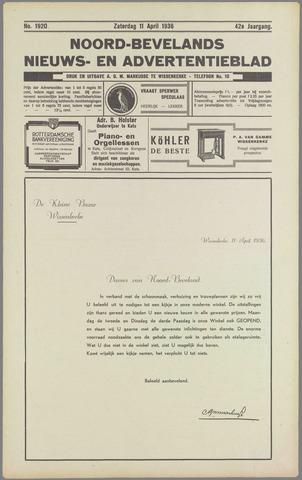 Noord-Bevelands Nieuws- en advertentieblad 1936-04-11
