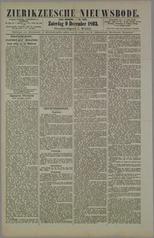 Zierikzeesche Nieuwsbode 1893-12-09