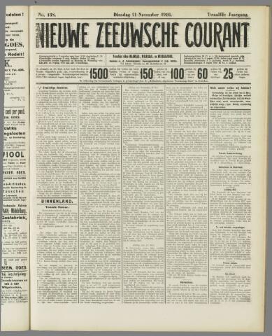 Nieuwe Zeeuwsche Courant 1916-11-21
