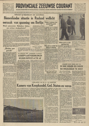 Provinciale Zeeuwse Courant 1958-11-17