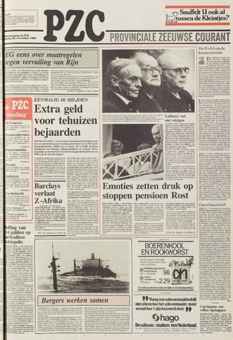 Provinciale Zeeuwse Courant 1986-11-25