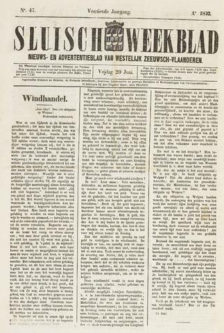 Sluisch Weekblad. Nieuws- en advertentieblad voor Westelijk Zeeuwsch-Vlaanderen 1873-06-20