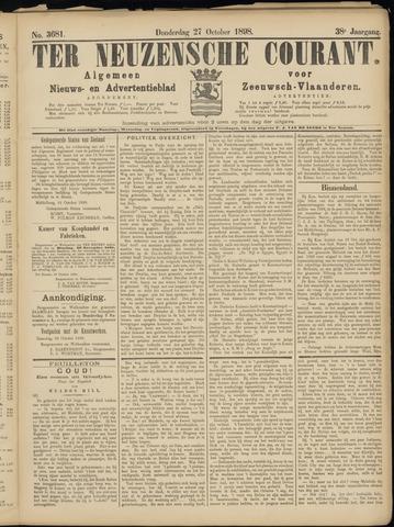 Ter Neuzensche Courant. Algemeen Nieuws- en Advertentieblad voor Zeeuwsch-Vlaanderen / Neuzensche Courant ... (idem) / (Algemeen) nieuws en advertentieblad voor Zeeuwsch-Vlaanderen 1898-10-27