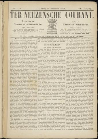 Ter Neuzensche Courant. Algemeen Nieuws- en Advertentieblad voor Zeeuwsch-Vlaanderen / Neuzensche Courant ... (idem) / (Algemeen) nieuws en advertentieblad voor Zeeuwsch-Vlaanderen 1878-12-14