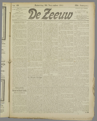 De Zeeuw. Christelijk-historisch nieuwsblad voor Zeeland 1917-11-24