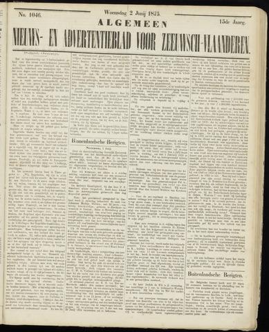 Ter Neuzensche Courant. Algemeen Nieuws- en Advertentieblad voor Zeeuwsch-Vlaanderen / Neuzensche Courant ... (idem) / (Algemeen) nieuws en advertentieblad voor Zeeuwsch-Vlaanderen 1875-06-02