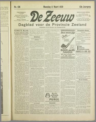De Zeeuw. Christelijk-historisch nieuwsblad voor Zeeland 1929-03-11