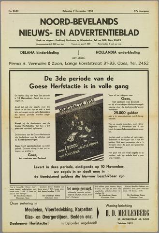 Noord-Bevelands Nieuws- en advertentieblad 1953-11-07