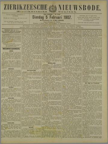 Zierikzeesche Nieuwsbode 1907-02-05