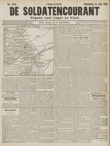 De Soldatencourant. Orgaan voor Leger en Vloot 1916-06-14