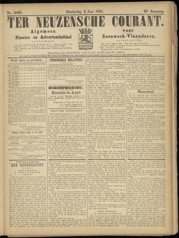 Ter Neuzensche Courant. Algemeen Nieuws- en Advertentieblad voor Zeeuwsch-Vlaanderen / Neuzensche Courant ... (idem) / (Algemeen) nieuws en advertentieblad voor Zeeuwsch-Vlaanderen 1897-06-03