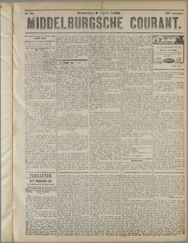 Middelburgsche Courant 1922-04-08