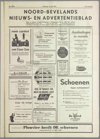 Noord-Bevelands Nieuws- en advertentieblad 1964-07-11
