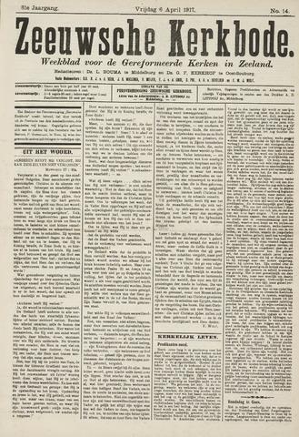 Zeeuwsche kerkbode, weekblad gewijd aan de belangen der gereformeerde kerken/ Zeeuwsch kerkblad 1917-04-06
