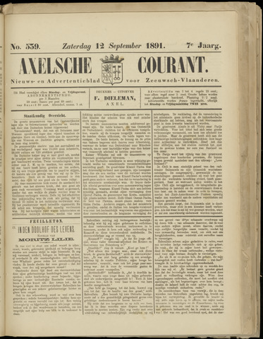 Axelsche Courant 1891-09-12
