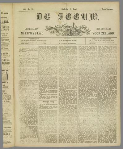 De Zeeuw. Christelijk-historisch nieuwsblad voor Zeeland 1896-03-12