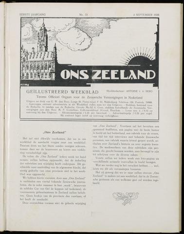 Ons Zeeland / Zeeuwsche editie 1926-09-04