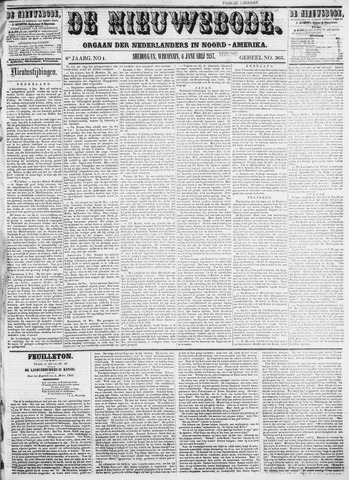 Sheboygan Nieuwsbode 1857