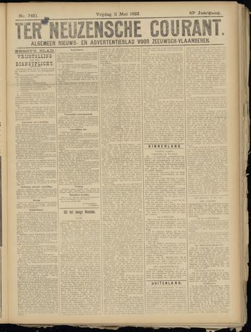Ter Neuzensche Courant. Algemeen Nieuws- en Advertentieblad voor Zeeuwsch-Vlaanderen / Neuzensche Courant ... (idem) / (Algemeen) nieuws en advertentieblad voor Zeeuwsch-Vlaanderen 1923-05-11