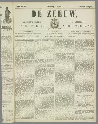De Zeeuw. Christelijk-historisch nieuwsblad voor Zeeland 1888-04-28