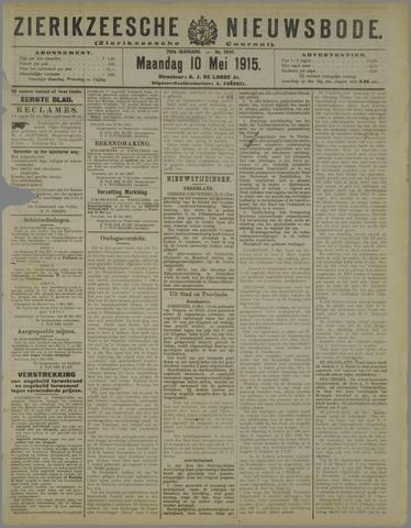 Zierikzeesche Nieuwsbode 1915-05-10