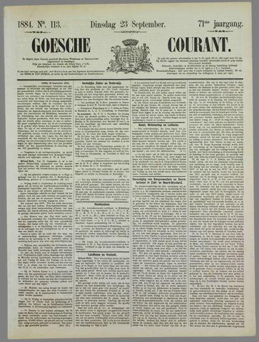 Goessche Courant 1884-09-23