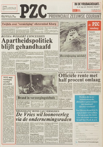 Provinciale Zeeuwse Courant 1985-08-16