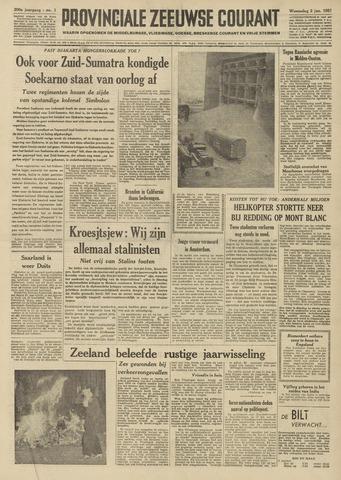 Provinciale Zeeuwse Courant 1957-01-02