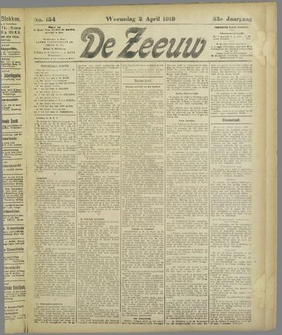 De Zeeuw. Christelijk-historisch nieuwsblad voor Zeeland 1919-04-02