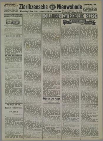 Zierikzeesche Nieuwsbode 1930-11-05