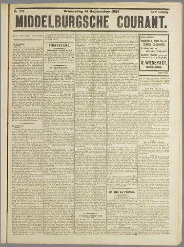 Middelburgsche Courant 1927-09-21