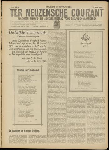 Ter Neuzensche Courant. Algemeen Nieuws- en Advertentieblad voor Zeeuwsch-Vlaanderen / Neuzensche Courant ... (idem) / (Algemeen) nieuws en advertentieblad voor Zeeuwsch-Vlaanderen 1938-01-31