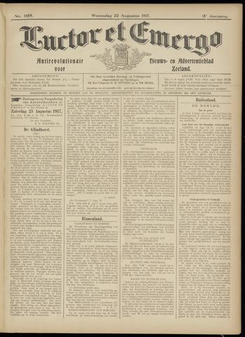 Luctor et Emergo. Antirevolutionair nieuws- en advertentieblad voor Zeeland / Zeeuwsch-Vlaanderen. Orgaan ter verspreiding van de christelijke beginselen in Zeeuwsch-Vlaanderen 1917-08-22