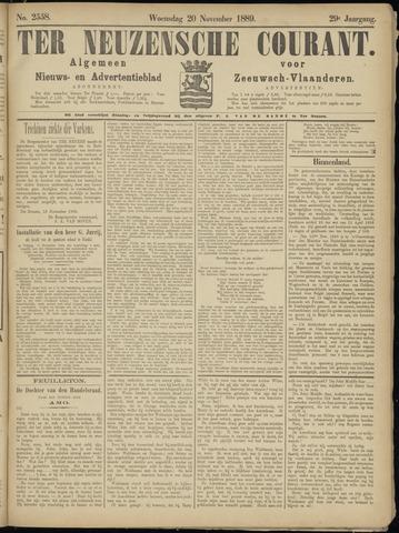 Ter Neuzensche Courant. Algemeen Nieuws- en Advertentieblad voor Zeeuwsch-Vlaanderen / Neuzensche Courant ... (idem) / (Algemeen) nieuws en advertentieblad voor Zeeuwsch-Vlaanderen 1889-11-20