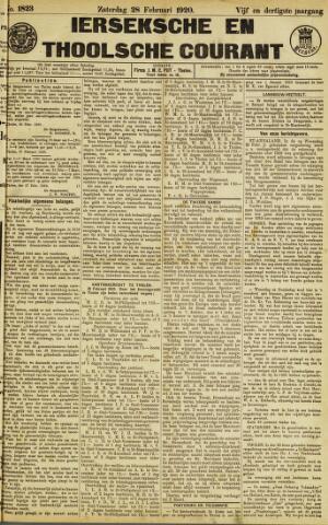 Ierseksche en Thoolsche Courant 1920-02-28