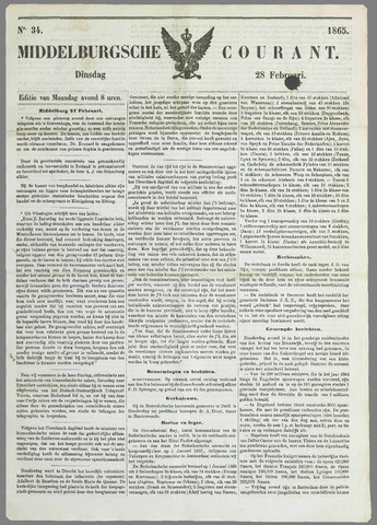 Middelburgsche Courant 1865-02-28