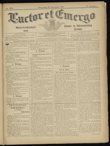 Luctor et Emergo. Antirevolutionair nieuws- en advertentieblad voor Zeeland / Zeeuwsch-Vlaanderen. Orgaan ter verspreiding van de christelijke beginselen in Zeeuwsch-Vlaanderen 1916-11-29