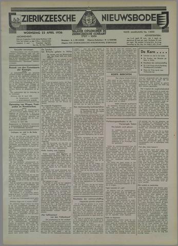 Zierikzeesche Nieuwsbode 1936-04-22