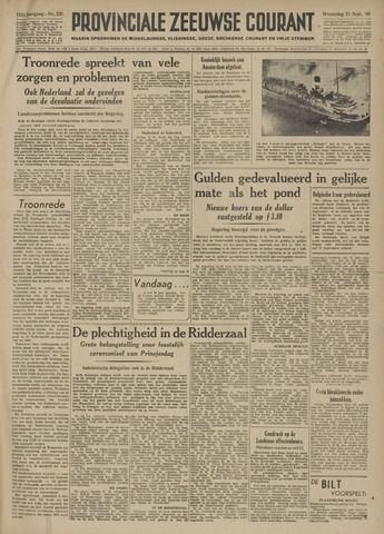 Provinciale Zeeuwse Courant 1949-09-21
