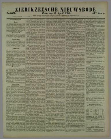 Zierikzeesche Nieuwsbode 1888-04-21