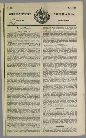 Zierikzeesche Courant 1844-11-26