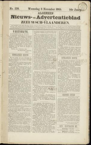 Ter Neuzensche Courant. Algemeen Nieuws- en Advertentieblad voor Zeeuwsch-Vlaanderen / Neuzensche Courant ... (idem) / (Algemeen) nieuws en advertentieblad voor Zeeuwsch-Vlaanderen 1865-11-08