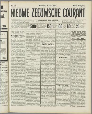 Nieuwe Zeeuwsche Courant 1915-07-01