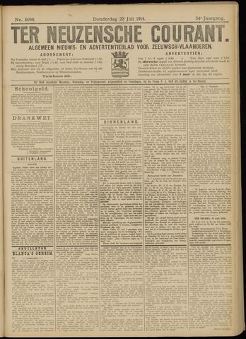 Ter Neuzensche Courant. Algemeen Nieuws- en Advertentieblad voor Zeeuwsch-Vlaanderen / Neuzensche Courant ... (idem) / (Algemeen) nieuws en advertentieblad voor Zeeuwsch-Vlaanderen 1914-07-23